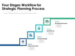 Four Stages Workflow For Strategic Planning Process Ppt PowerPoint Presentation Icon Inspiration PDF