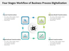Four Stages Workflow Of Business Process Digitalization Ppt PowerPoint Presentation File Deck PDF
