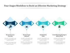 Four Stages Workflow To Build An Effective Marketing Strategy Ppt PowerPoint Presentation File Graphic Images PDF