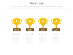 Four Star Trophies And Years For Success Powerpoint Slides
