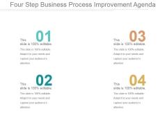 Four Step Business Process Improvement Agenda Ppt PowerPoint Presentation Slides