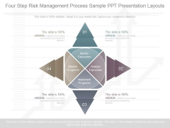 Four Step Risk Management Process Sample Ppt Presentation Layouts