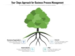Four Steps Approach For Business Process Management Ppt PowerPoint Presentation File Graphics Tutorials PDF