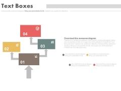 Four Steps Arrow Chart Design Powerpoint Slides