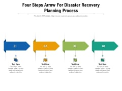 Four Steps Arrow For Disaster Recovery Planning Process Ppt PowerPoint Presentation File Summary PDF