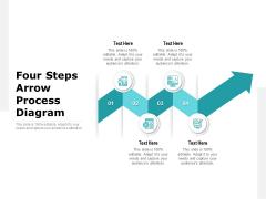 Four Steps Arrow Process Diagram Ppt PowerPoint Presentation Outline Design Ideas