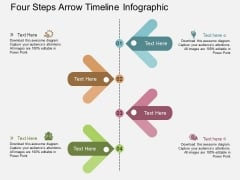 Four Steps Arrow Timeline Infographic Powerpoint Template