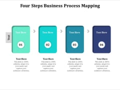Four Steps Business Process Mapping Ppt PowerPoint Presentation File Slideshow PDF