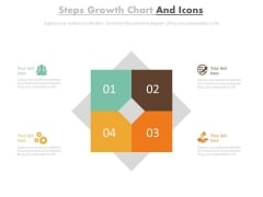 Four Steps Chart With Growth Icons Powerpoint Template