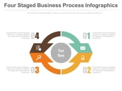Four Steps Circular Infographic Powerpoint Slides