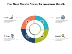 Four Steps Circular Process For Investment Growth Ppt PowerPoint Presentation Gallery Tips PDF