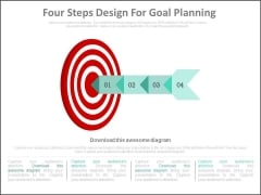 Four Steps Design For Goal Planning Powerpoint Slides