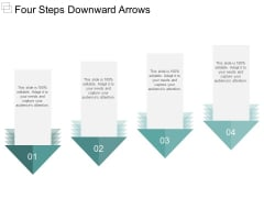 Four Steps Downward Arrows Ppt PowerPoint Presentation Show Smartart