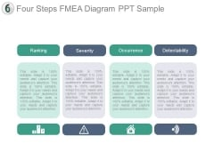 Four Steps Fmea Diagram Ppt Sample