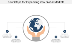 Four Steps For Expanding Into Global Markets Ppt Powerpoint Presentation File Slideshow