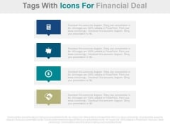 Four Steps For Financial Deal With Icons Powerpoint Slides