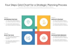 Four Steps Grid Chart For A Strategic Planning Process Ppt PowerPoint Presentation File Clipart PDF