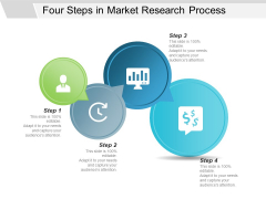 Four Steps In Market Research Process Ppt PowerPoint Presentation Layouts Graphics Download
