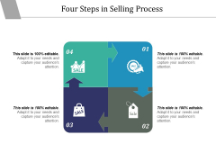 Four Steps In Selling Process Ppt PowerPoint Presentation Summary Designs Download