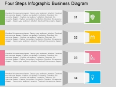 Four Steps Infographic Business Diagram Powerpoint Templates