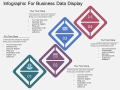 Four Steps Infographic For Business Data Display Powerpoint Template