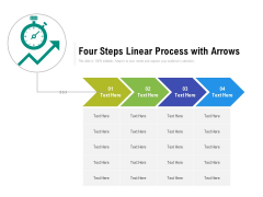 Four Steps Linear Process With Arrows Ppt PowerPoint Presentation File Clipart PDF