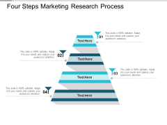 Four Steps Marketing Research Process Ppt PowerPoint Presentation Infographic Template Graphics