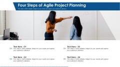 Four Steps Of Agile Project Planning Ppt PowerPoint Presentation Ideas Slides PDF