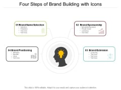 Four Steps Of Brand Building With Icons Ppt PowerPoint Presentation Summary Show