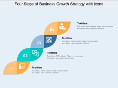 Four Steps Of Business Growth Strategy With Icons Ppt PowerPoint Presentation Portfolio Influencers