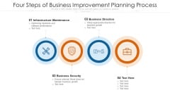 Four Steps Of Business Improvement Planning Process Ppt PowerPoint Presentation File Introduction PDF