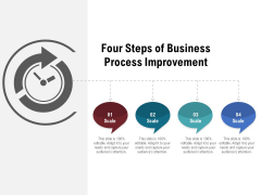 Four Steps Of Business Process Improvement Ppt PowerPoint Presentation File Graphics Example PDF