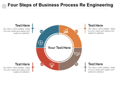 Four Steps Of Business Process Re Engineering Ppt PowerPoint Presentation Gallery Design Templates PDF