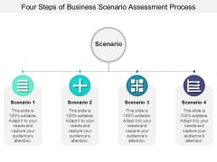 Four Steps Of Business Scenario Assessment Process Ppt PowerPoint Presentation Layouts Demonstration PDF