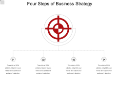 Four Steps Of Business Strategy Ppt PowerPoint Presentation Icon Influencers PDF
