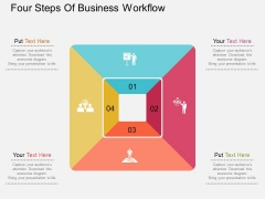 Four Steps Of Business Workflow Powerpoint Templates