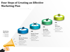 Four Steps Of Creating An Effective Marketing Plan Ppt PowerPoint Presentation Model Visual Aids PDF