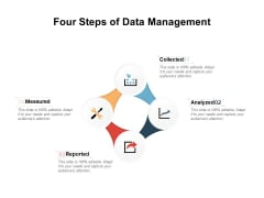 Four Steps Of Data Management Ppt PowerPoint Presentation Professional Ideas