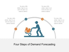 Four Steps Of Demand Forecasting Ppt PowerPoint Presentation Gallery Outline PDF
