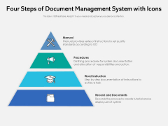 Four Steps Of Document Management System With Icons Ppt PowerPoint Presentation Icon Infographics PDF