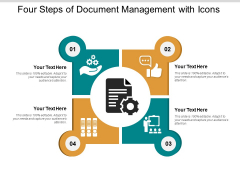 Four Steps Of Document Management With Icons Ppt PowerPoint Presentation Ideas