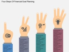 Four Steps Of Financial Goal Planning Powerpoint Templates