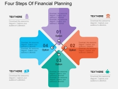 Four Steps Of Financial Planning Powerpoint Templates