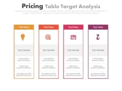Four Steps Of Idea And Target Planning Powerpoint Slides