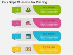 Four Steps Of Income Tax Planning Powerpoint Template