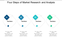 Four Steps Of Market Research And Analysis Ppt PowerPoint Presentation Portfolio Visuals