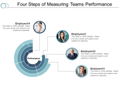 Four Steps Of Measuring Teams Performance Ppt PowerPoint Presentation Ideas Mockup
