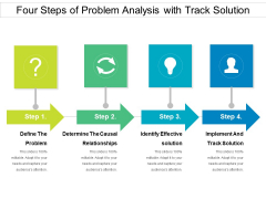 Four Steps Of Problem Analysis With Track Solution Ppt PowerPoint Presentation File Styles PDF
