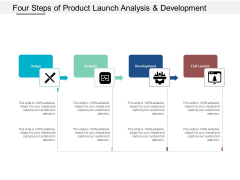 Four Steps Of Product Launch Analysis And Development Ppt Powerpoint Presentation Outline Slide Download