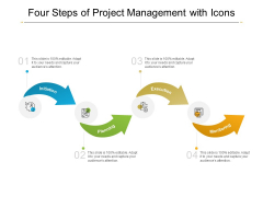 Four Steps Of Project Management With Icons Ppt PowerPoint Presentation Inspiration Show